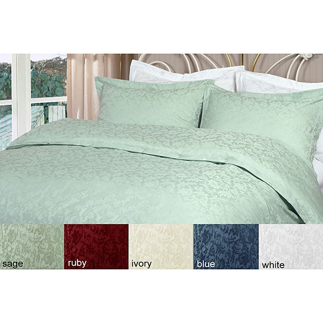 Jacquard 330 Thread Count Duvet Cover Set