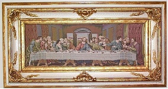 Framed Italian Last Supper Tapestry Free Shipping Today