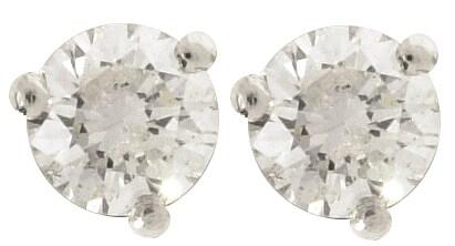 Platinum 1/4-ct Diamond Solitaire Earrings (case of 3)