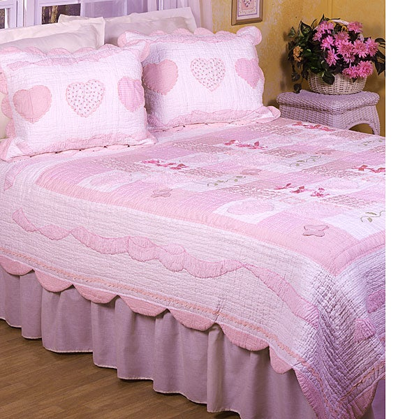 Sugar and Spice Cotton Patchwork Quilt Set (Twin)