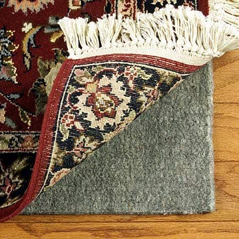 Con-Tact Brand Super Movenot Premium Reversible Felt Rug Pad for Hard Surfaces and Carpet (9' x 12') - Grey - 9' X 12'