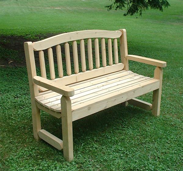 Adirondack Cedar Park And Garden Wooden Bench Free