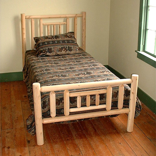 Rustic Log Pole Cedar Adirondack Quilt Bed Twin Free