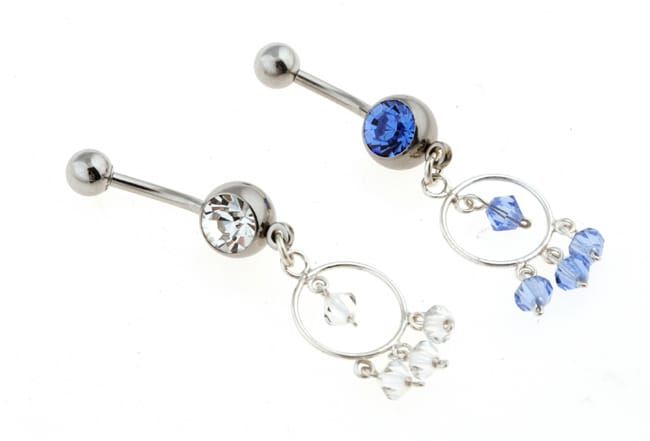 Carolina Glamour Collection Surgical Steel Exotic Hoop Barbell Belly Ring