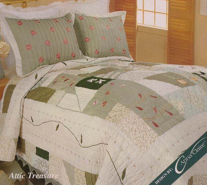 Attic Treasure Cotton Patchwork Quilt Set