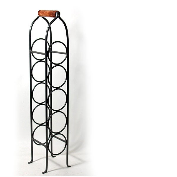 Shop Five Bottle Countertop Wine Rack Free Shipping On Orders Over