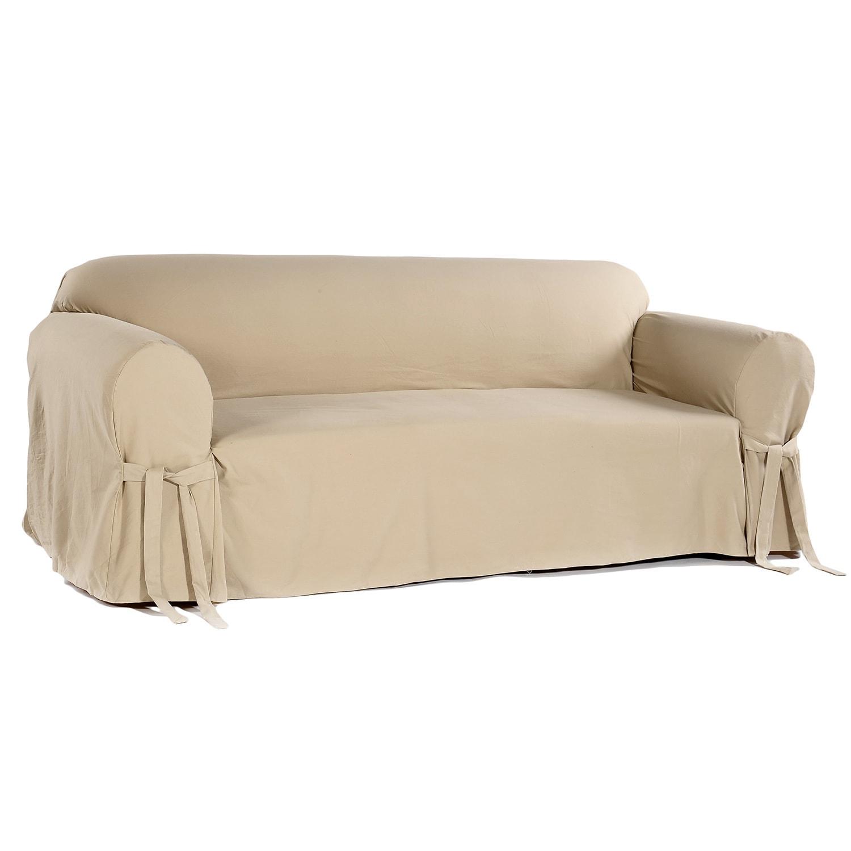 Teflon Cotton Twill Slipcover Sofa Free Shipping Today