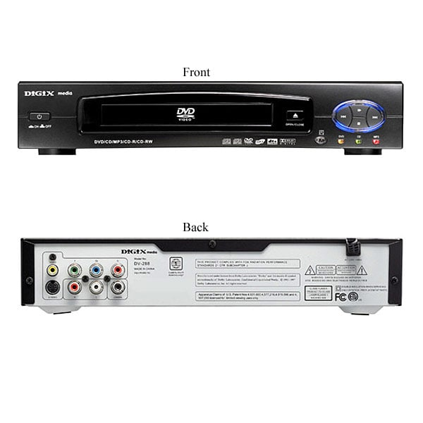 Digix Dv 288 Dvd Cd Mp3 Cd R Cd Rw Player Free Shipping