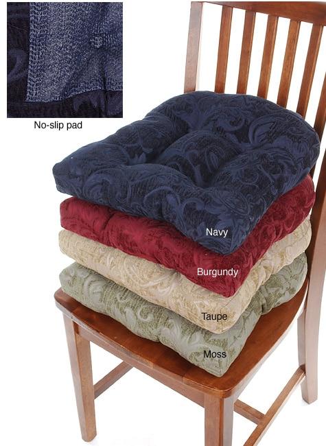 Cambridge Chenille No-slip Chair Pads (Set Of 4)