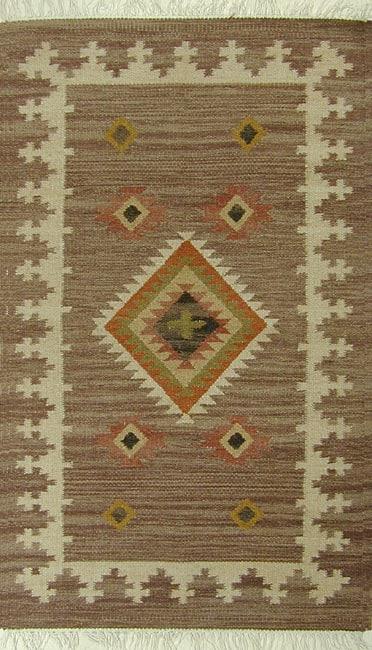 Aztec Wool Flat Weave Rug (5' x 8')
