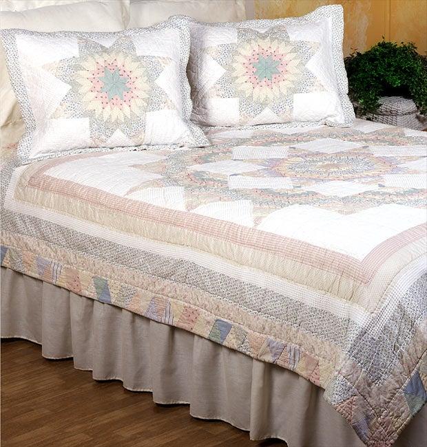 Passion Star Cotton Patchwork Quilt Set