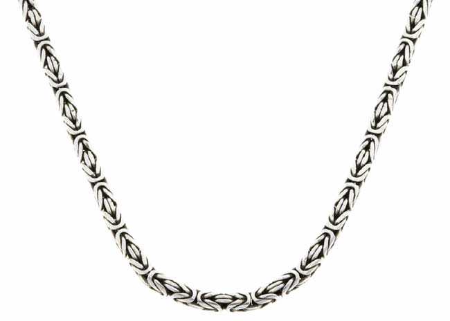 Sterling Silver Bali Chain Toggle Necklace
