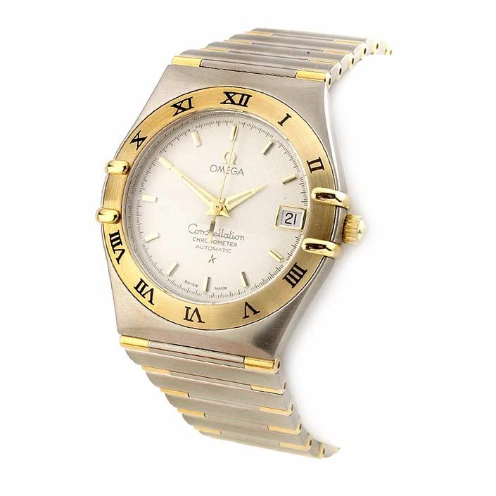 omega constellation two tone mini women's watch