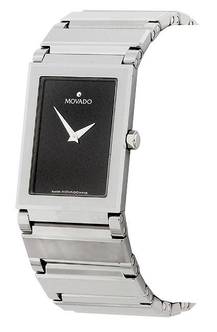 Movado Valor Men's Black Tungsten Bracelet Watch