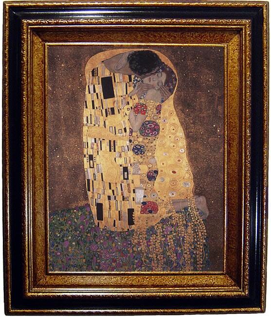 Klimt The Kiss Framed Canvas