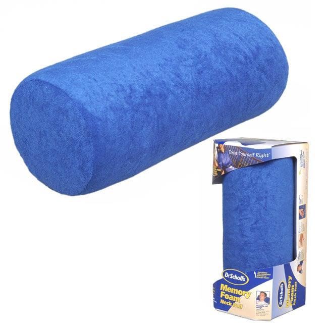 Dr Scholl's Neck Roll Memory Foam Pillow