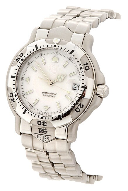 Tag Heuer 6000 Men's White Dial Silvertone Bracelet Watch