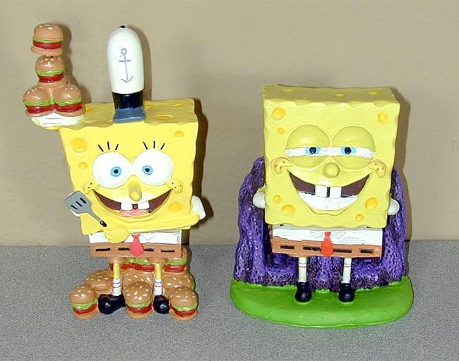 SpongeBob Square Pants and Krabby Patty Bobblers