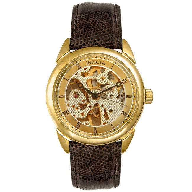 invicta men s skeleton mechanical movement watch shipping invicta men s skeleton mechanical movement watch