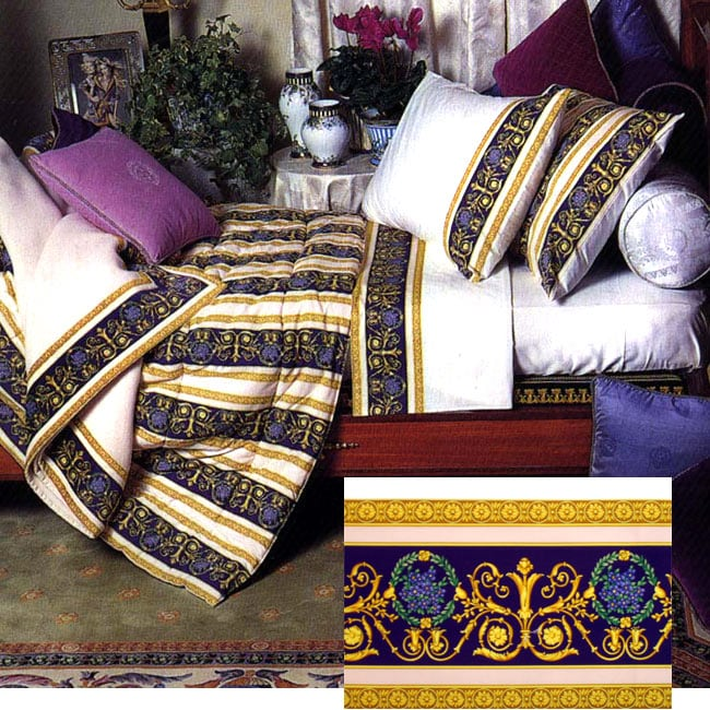 Versace Home Collection Queen Size Decorative Flat Sheet