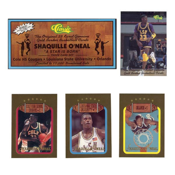 Shaquille O'Neal'A Star is Born' 23-kt Gold Set