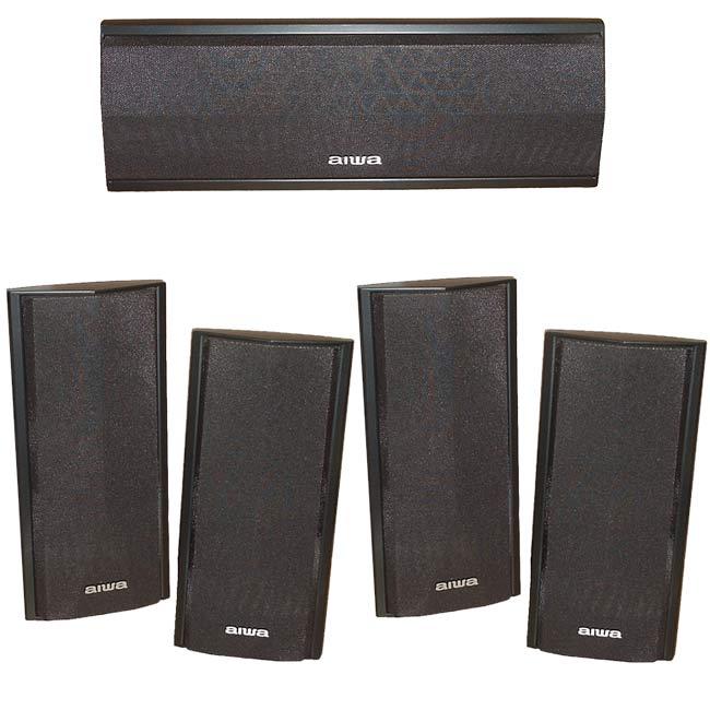 Aiwa 5 Piece Surround Sound Speaker Package Refurbished