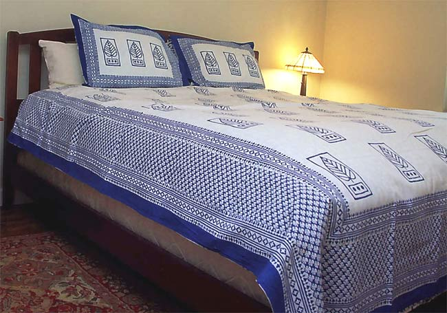 Rapide Blue Leaf/Fish Twin Duvet Cover (India)