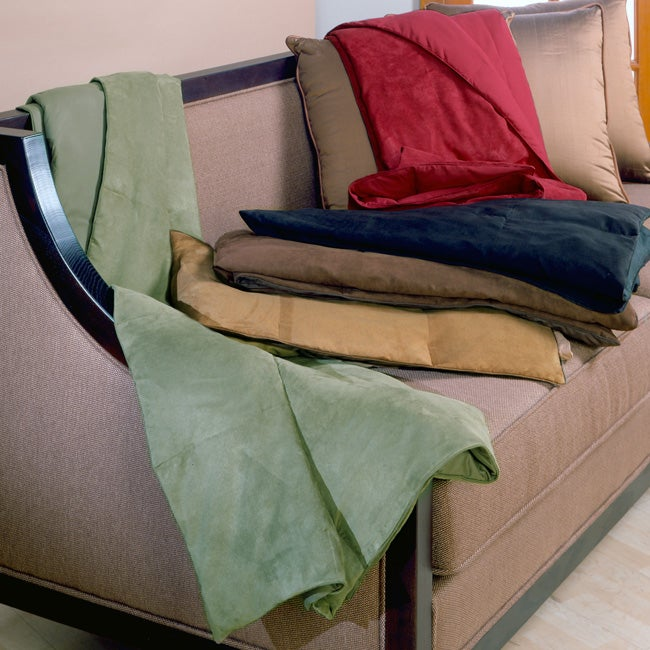 Microsuede Down Throw