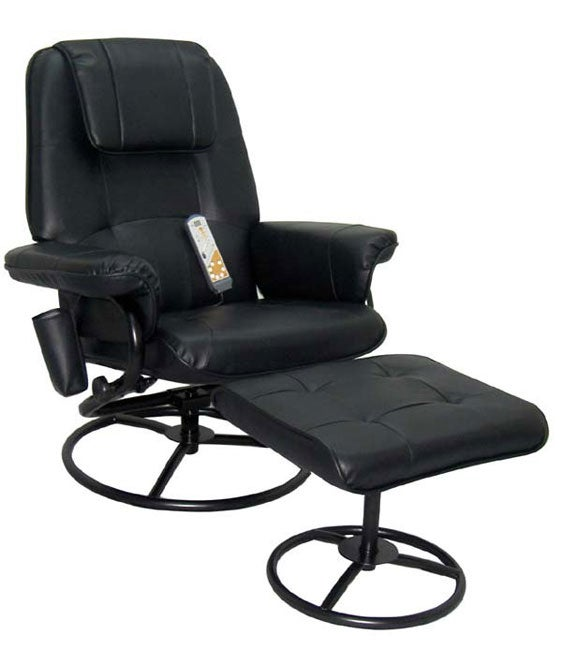 Leisure Vibrating Massage Chair with Ottoman
