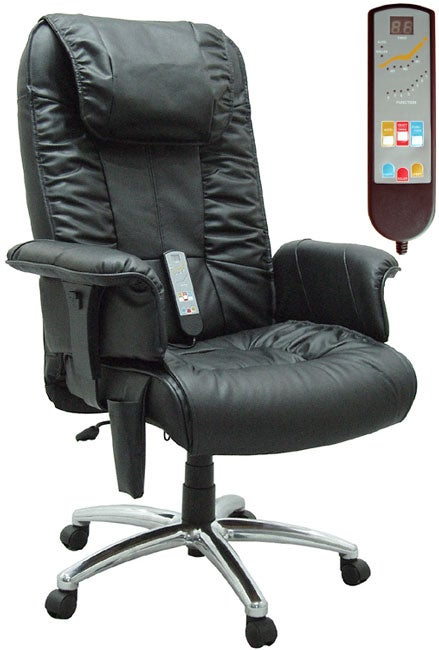 Leather Executive Office Massage Chair - Free Shipping -8579