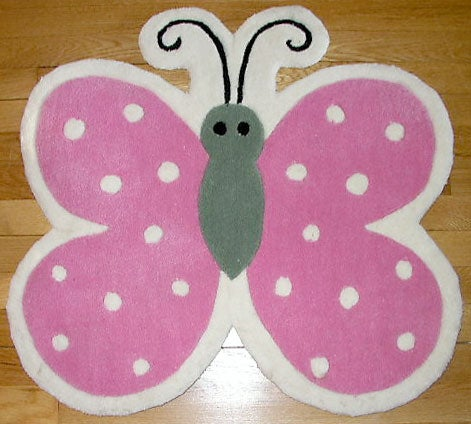 Butterfly Shape Rug (2'3 x 2'3)