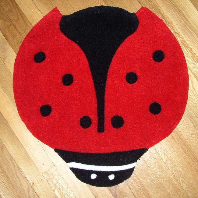 Ladybug Shape Rug (2'3 x 2'3)