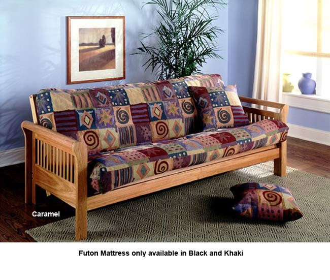 Abbey Futon Frame With Mattress 2 Finishes