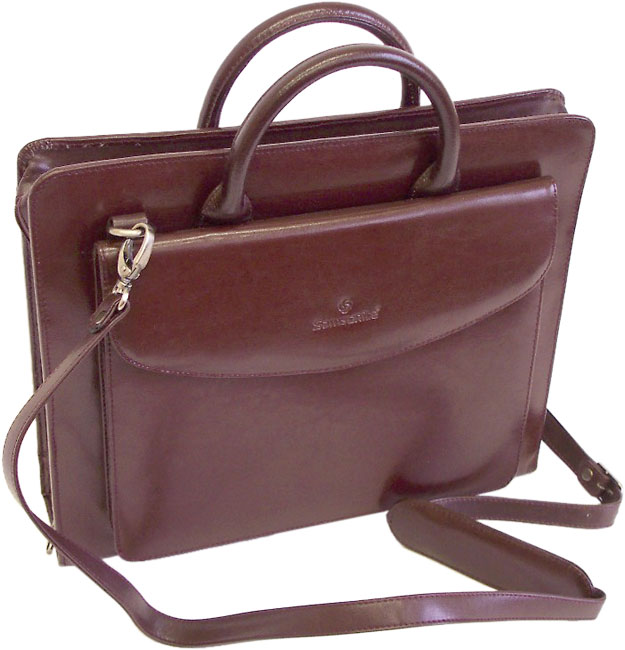 Samsonite Leather Zippered Binder Portfolio Free