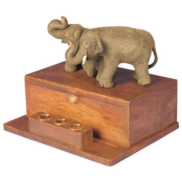 Two Elephants Business Card Holder