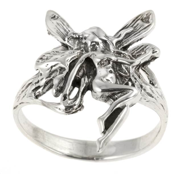 Journee Sterling Silver Fairy Ring