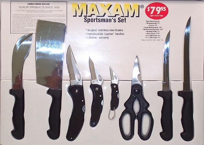 Maxam Sportsman 8-piece Knife Set