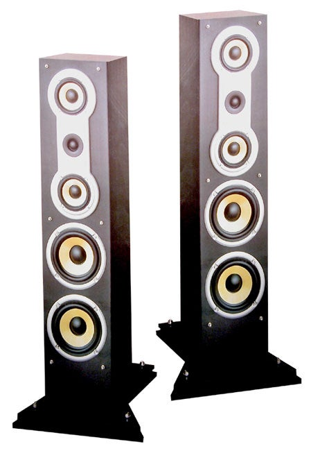 Sdat Professional Floor Standing Speaker Set Free Shipping Today Overstock