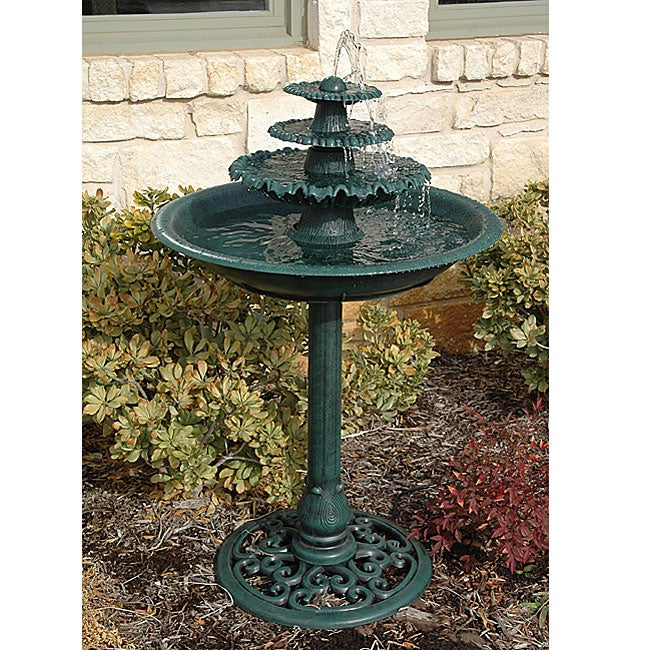 Three-tier Fountain Birdbath