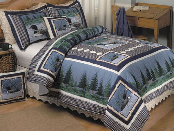 Lazy Loon Handstitched Quilt Set (King)
