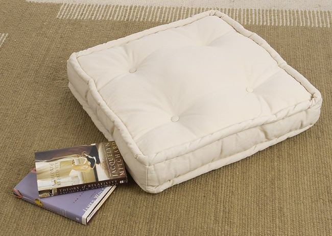 Natural Floor Cushion 23 X 22 In Free Shipping On