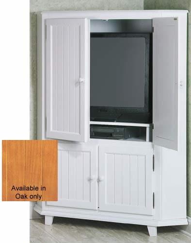 somerville light oak corner tv armoire free shipping
