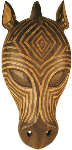 Zebra Tribal Mask Wall Hanging