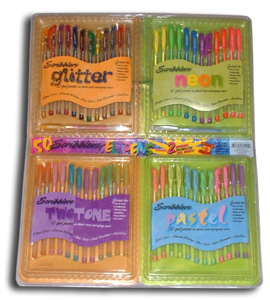 Scribblers 50-piece Gel Pen Set