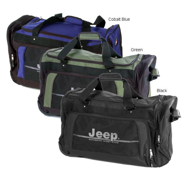 Shop Jeep Authentic Series 28 inch Rolling Duffel Bag - Free Shipping On  Orders Over  45 - Overstock - 857516 e96e4d667c63b