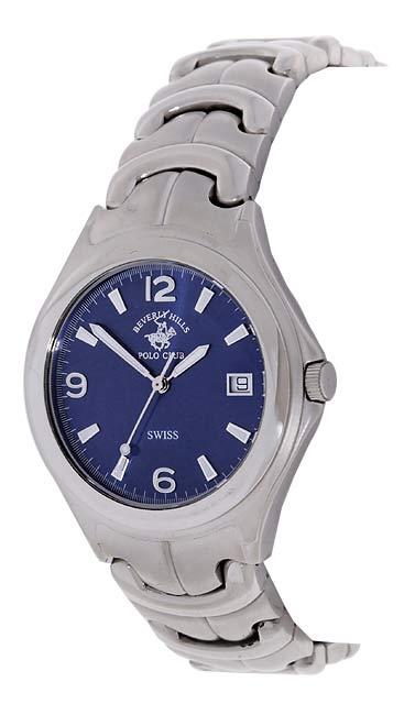 Beverly Hills Polo Club Men's Silvertone Watch