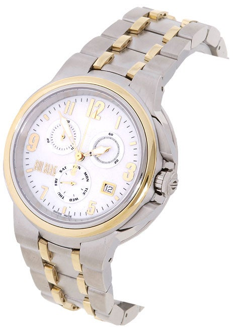929d1e3f1 Shop Bill Blass Master Elite Men's Two-tone Steel Watch - Free Shipping  Today - Overstock - 879897