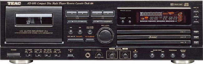 Teac AD600 3-disc CD Player/Cassette Deck with Remote (Refurbished)