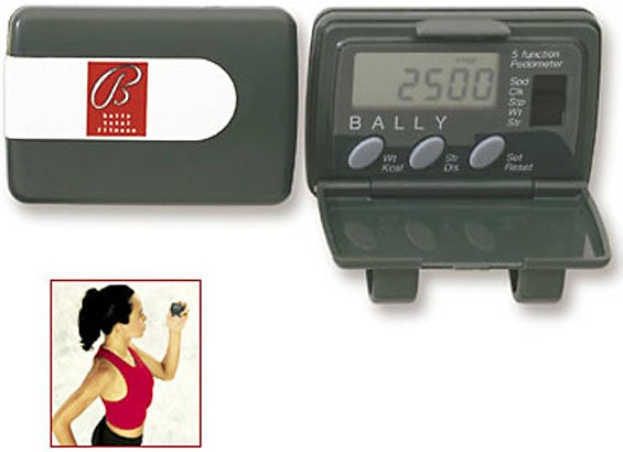 Five-function Electronic Pedometer w/Calorie Counter