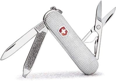 Swiss Army Sterling Silver Classic Barleycorn Knife